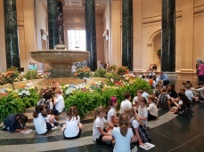 A delight to see so many children on a cultural outing.