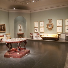The early-American furniture and decorative arts salons.