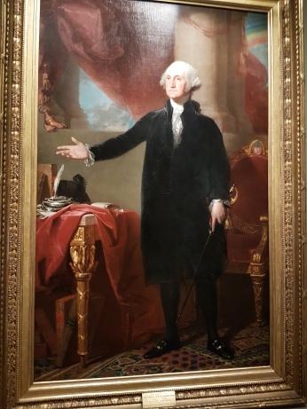 Washington by Gilbert Stuart.