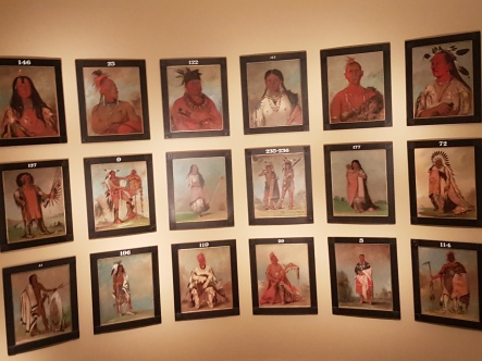 George Catlin's sensational portraits of Native American chieftans ought to be in the Museum of the American Indian.