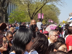 The crowd was a wonderful mix of colors and ethnicities.