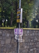 Virtually every post in Dublin was plastered with Yes/No posters for the abortion referendum.