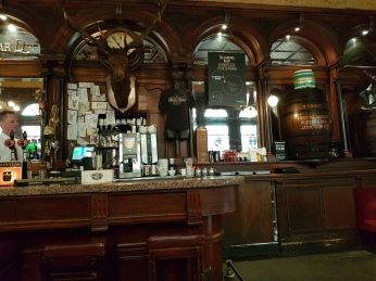 The Victorian interior of the Stag's Leap Pub, Dublin.