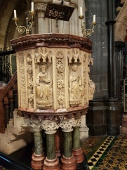A spectacular pulpit.