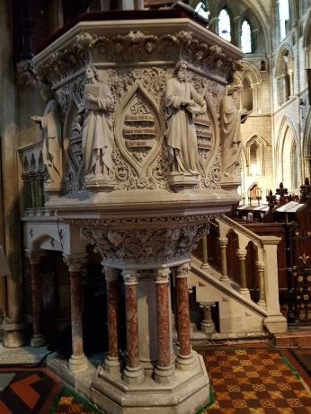 The pulpit from which Prior Jonathan Swift preached.