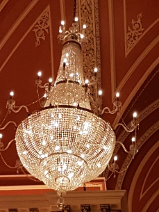 The Waterford crystal chandelier is stunning.
