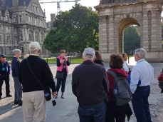 Guide Suzanne explaining some of the history of Trinity College.
