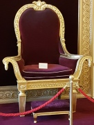 Queen Victoria used this throne when she came to Dublin to inspect her domain.