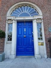 Georgian doors abound in Dublin city center.