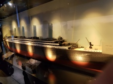 A model of the ship.