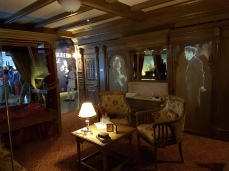 A reconstructed cabin on the ship.