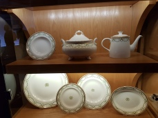 Samples of White Star line china.