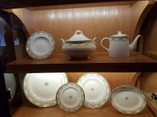 Samples of White Star line china.