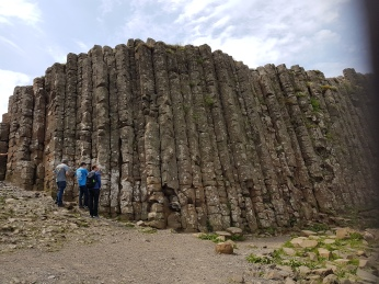Some of the basalt colunns of the Giant's Causeway.