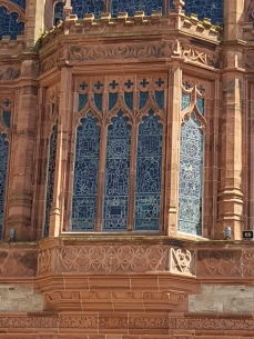 Detail on the Guild Hall.