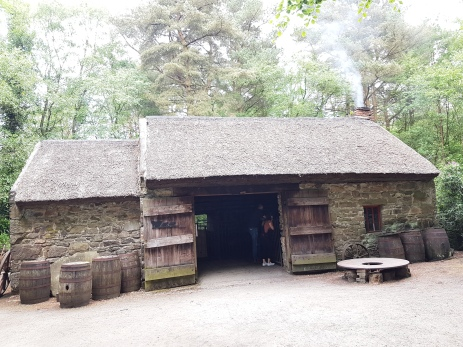 Buildings in the Ulster-American folk park were brought to the site and reconstructed stone by stone.