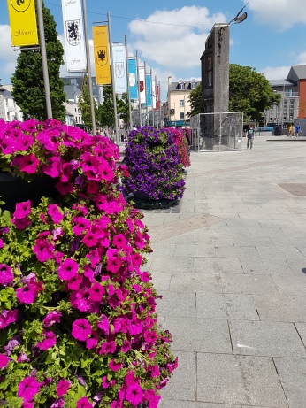 Part of the main square in Galway City.