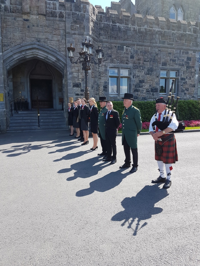 We were piped into the castle passing the welcoming staff.