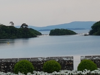 The Lough Corrib islands seen from the back garden.