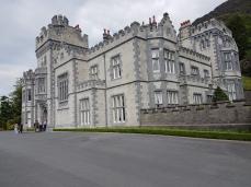 The facade of Kylemore Abbey.