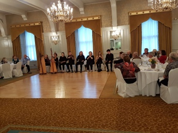 The huge ballroom of the Old Ground Hotel .