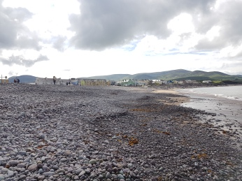 The rocky beach at Waterville.