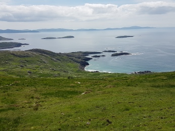 The Dingle Peninsular in the distance.