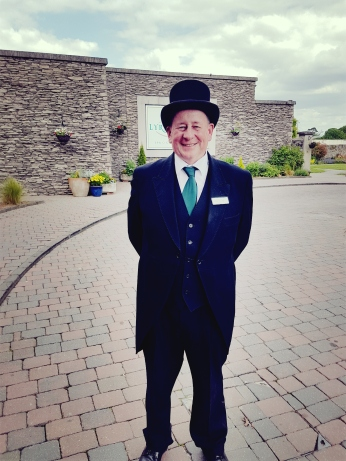 A warm Irish welcome from greeter Ray.