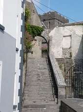 The stairway leads to the 13th century St. Canice's Cathedral (Church of Ireland).