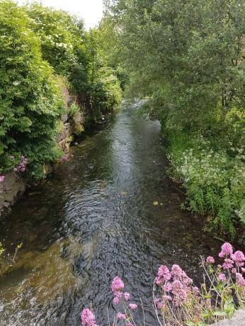 A surprising brook runs through the town.