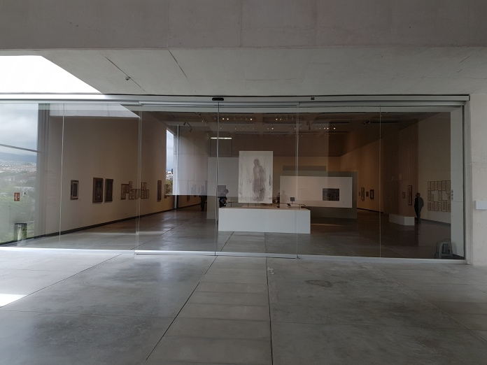 The spacious exhibit salon.