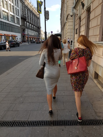 Young Russian women are stylish.