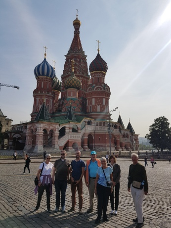 Our A+R group of seven in front of Saint Basil's.