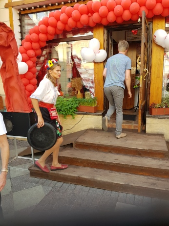 Our lunch stop, aKorchma (Ukranian café) named after a Nickolai Gogol novel, Taras Bulba.