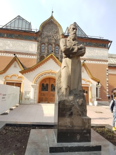 The statue honors gallery collector Pavel Tretykov.