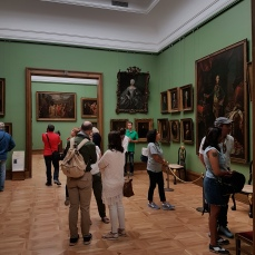 The huge gallery houses 130 thousand works of art.