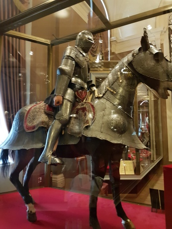 Medieval armor in the Armory museum.