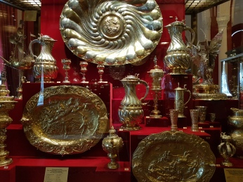 Mostly German silver work among the gifts.