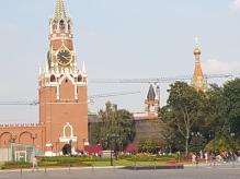 The Kremlin clock tower.