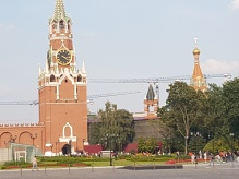 The Kremlin clock tower.