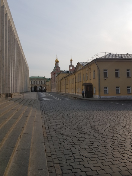 One of several pedestrian streets inside the Kremlin fortress.