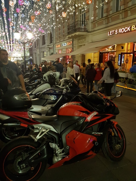 Bikers joined in the fun at evening hangouts.