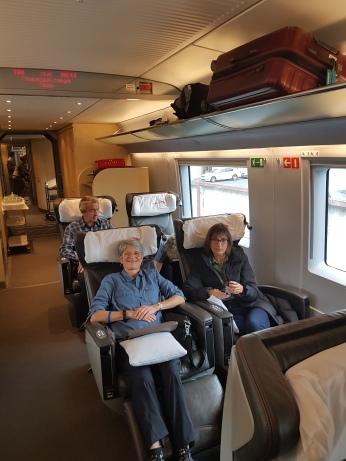 First-class comforts for first-class passengers.