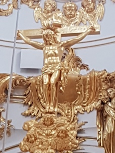A detail from the altar in the Hermitage chapel