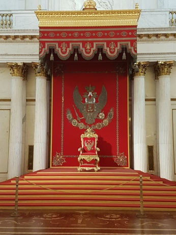 The throne room at the Hermitage.