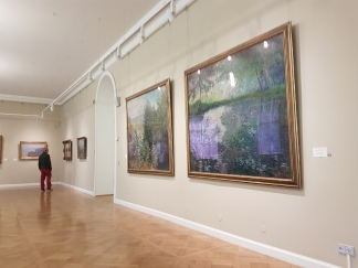 A Monet water lily scene.
