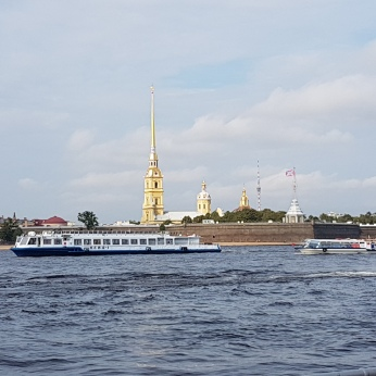 A boat ride on the River Neva and some canals.