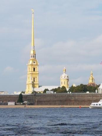 The Peter and Paul fortress was built to protect the city from invaders.