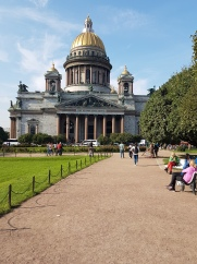 Saint Isaac's Cathedral, the largest Russian Orthodox church in the country.