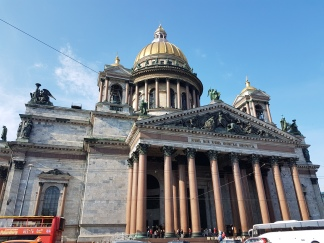 St. Isaac's Cathedral looks better inside.